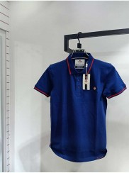 Blue Color Brand Quality Polo